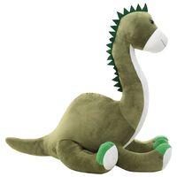 vidaXL Pluszowy brontozaur przytulanka, zielony