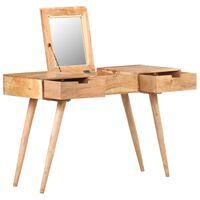 vidaXL Toaletka z lustrem, 112x45x76 cm, lite drewno akacjowe