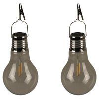 Luxform Ogrodowe lampy solarne LED, 2 szt., imprezowe, przezroczyste