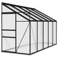 vidaXL Szklarnia, antracytowa, aluminium, 6,5 m³