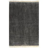 vidaXL Dywan typu kilim, bawełna, 200 x 290 cm, antracytowy