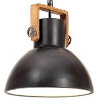vidaXL Industrialna lampa wisząca, 25 W, czarna, okrągła, 30 cm, E27