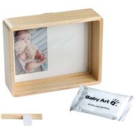Baby Art Ramka na zdjęcie i odcisk, naturalne drewno