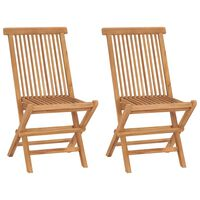 vidaXL Składane krzesła ogrodowe, 2 szt., lite drewno tekowe