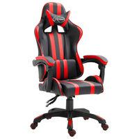 vidaXL Fotel dla gracza, czerwony, sztuczna skóra