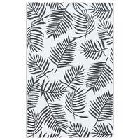 vidaXL Dywan na zewnątrz, biało-czarny, 120x180 cm, PP