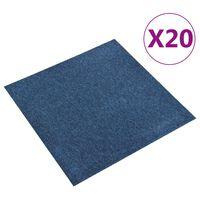 vidaXL Podłogowe płytki dywanowe, 20 szt., 5 m², 50x50 cm, niebieskie