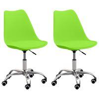 vidaXL Krzesła biurowe, 2 szt., zielone, sztuczna skóra