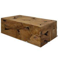 vidaXL Stolik kawowy z drewna tekowego, 90 x 50 x 35 cm, brązowy
