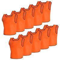 10 par bezrękawników sportowych Senior pomarańczowe