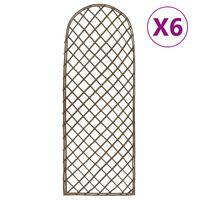vidaXL Kratki ogrodowe, 6 szt., 45x170 cm, wierzba