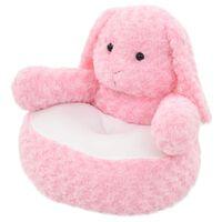 vidaXL Pluszowy królik przytulanka, różowy