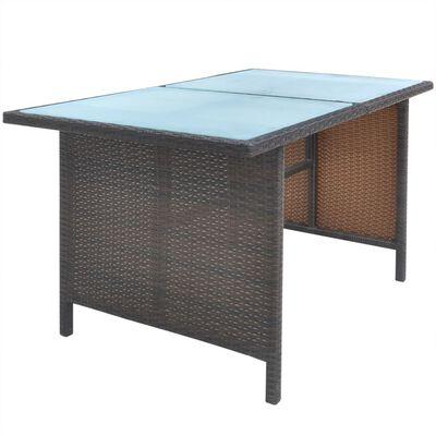 vidaXL 6-cz. zestaw mebli ogrodowych z poduszkami, rattan PE, brązowy