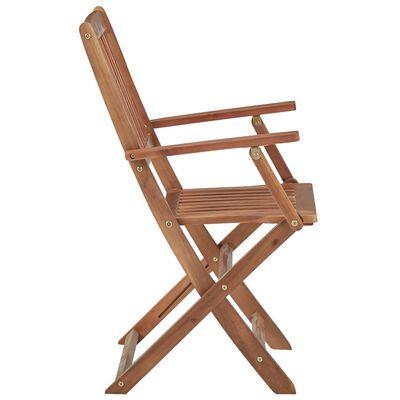 vidaXL Składane krzesła ogrodowe z poduszkami, 6 szt., drewno akacjowe