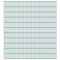 vidaXL Panele ogrodzeniowe 2D, 2,008 x 2,23 m, 32 m, zielone