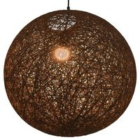 vidaXL Lampa wisząca, brązowa, kula, 55 cm, E27