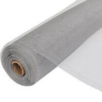 vidaXL Siatka na insekty, aluminiowa, 100 x 500 cm, srebrna