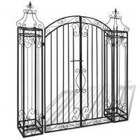 vidaXL Ozdobna brama ogrodowa z kutego żelaza, 122 x 20,5 x 134 cm
