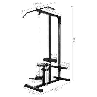 vidaXL Wyciąg do ćwiczeń i zestaw sztangi z hantlami, 60,5 kg