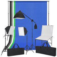 vidaXL Zestaw do studia ze stołem fotograficznym, lampami i tłami