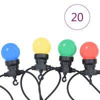 vidaXL Ogrodowe lampki dekoracyjne, 20 szt., okrągłe żarówki, 23 m