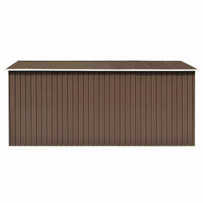vidaXL Szopa ogrodowa, 257 x 392 x 181 cm, metal, brązowa