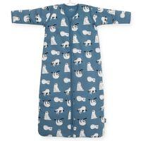 Jollein Śpiworek 4 pory roku, wzór w leniwce, 70 cm, niebieski