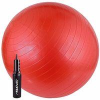 Avento Piłka fitness z pompką, 65 cm, czerwona, 41VV-ROZ