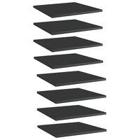 vidaXL Półki na książki, 8 szt., wysoki połysk, czarne, 40x40x1,5 cm