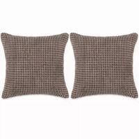 vidaXL Zestaw poduszek, 2szt., welur, 45 x 45 cm, brązowy
