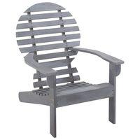 vidaXL Krzesło ogrodowe Adirondack z litego drewna akacjowego, szare