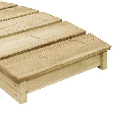 vidaXL Mostek ogrodowy, 170 x 74 cm, impregnowane drewno sosnowe