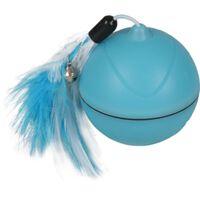 FLAMINGO Zabawkowa piłka 2-w-1 Magic Mechta, LED, niebieska, 7 cm