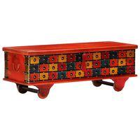 vidaXL Skrzynia, czerwona, 110 x 40 x 40 cm, lite drewno akacjowe