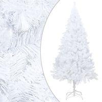 vidaXL Sztuczna choinka o grubych gałązkach, biała, 210 cm, PVC