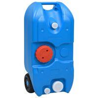 vidaXL Turystyczny pojemnik na wodę, na kółkach, 40 L, niebieski