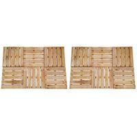 vidaXL Płytki tarasowe, 12 szt., 50 x 50 cm, drewno, brązowe