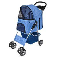 vidaXL Wózek dla psa, niebieski