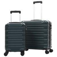 vidaXL Zestaw twardych walizek, 2 szt., zielone, ABS