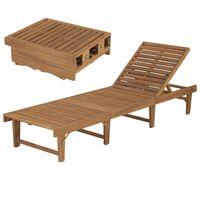 vidaXL Składany leżak, lite drewno akacjowe