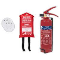 Smartwares Zestaw przeciwpożarowy, 4 elementy