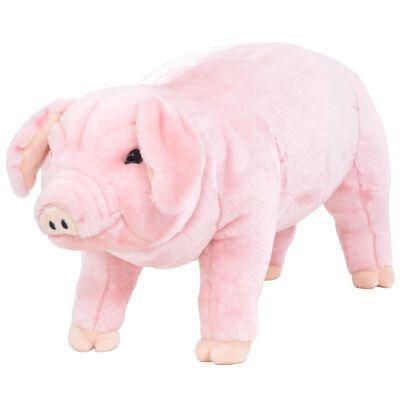 vidaXL Pluszowa świnka, stojąca, różowa, XXL