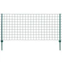 vidaXL Euro ogrodzenie, stalowe, 20 x 0,8 m, zielone