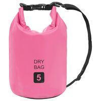 vidaXL Worek wodoszczelny, różowy, 5 L, PVC