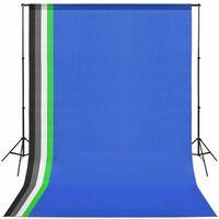 vidaXL Wyposażenie studia fotograficznego, przenośne tło 5 kolorów