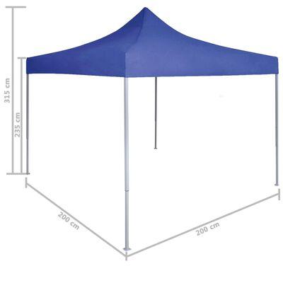 vidaXL Profesjonalny, składany namiot imprezowy 2x2 m, stal, niebieski