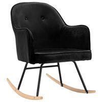 vidaXL Fotel bujany, czarny, tapicerowany aksamitem