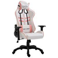 vidaXL Fotel dla gracza, różowy, sztuczna skóra