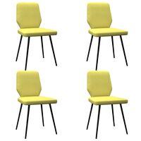 vidaXL Krzesła stołowe, 4 szt., kolor limonkowy żółty, tkanina