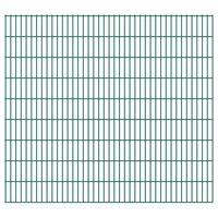 vidaXL Panele ogrodzeniowe 2D, 2,008 x 1,83 m, 6 m, zielone